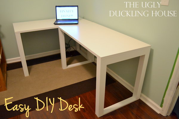 Easy DIY L Shaped Desk