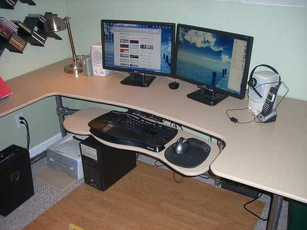 Custom Ergonomic Computer Desk