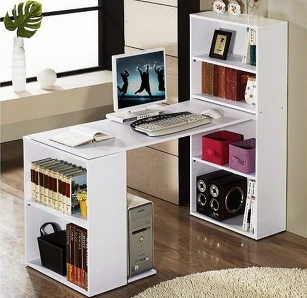 Do it yourself office desk bestsciaticatreatments 15 diy computer desk ideas tutorials for home office for do it yourself office desk solutioingenieria Gallery