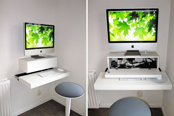 15+ DIY Computer Desk Ideas & Tutorials for Home Office - Hative