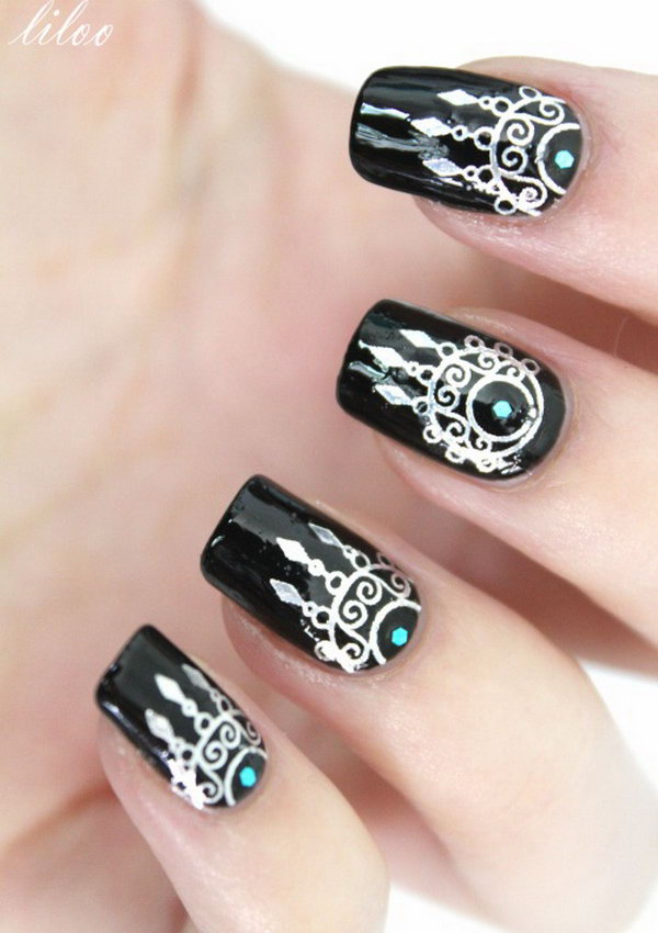 Lots of dream catcher nail designs and ideas. How beautiful and unique with  such good - 35+ Cool Dream Catcher Nail Designs For Native American Fashion