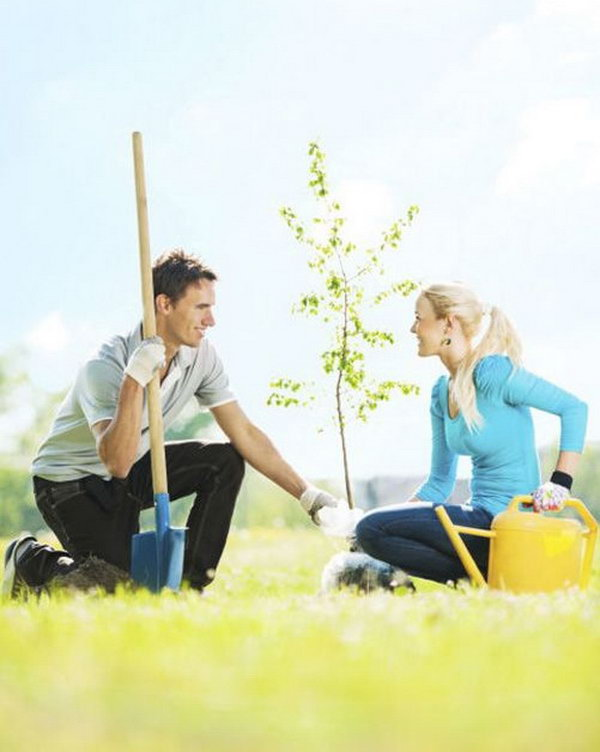 Planting Trees. If you both care about nature, it's great to plant trees together. The trees are also the symbol of your love relationship.