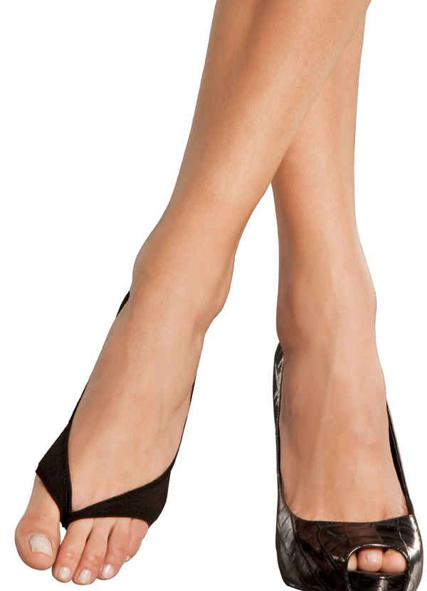 Wear These with Open Toed Heels to Protect from Blisters
