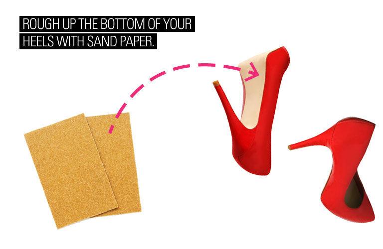 Prevent Slipping with Sandpaper