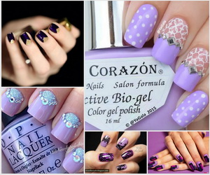 purple-nails-collage