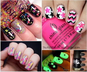 star-nail-art-collage