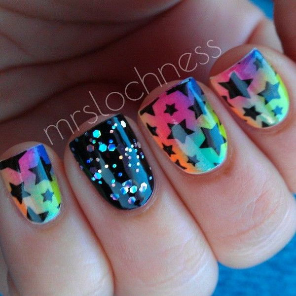 50 Cool Star Nail Art Designs With Lots Of Tutorials And Ideas Hative