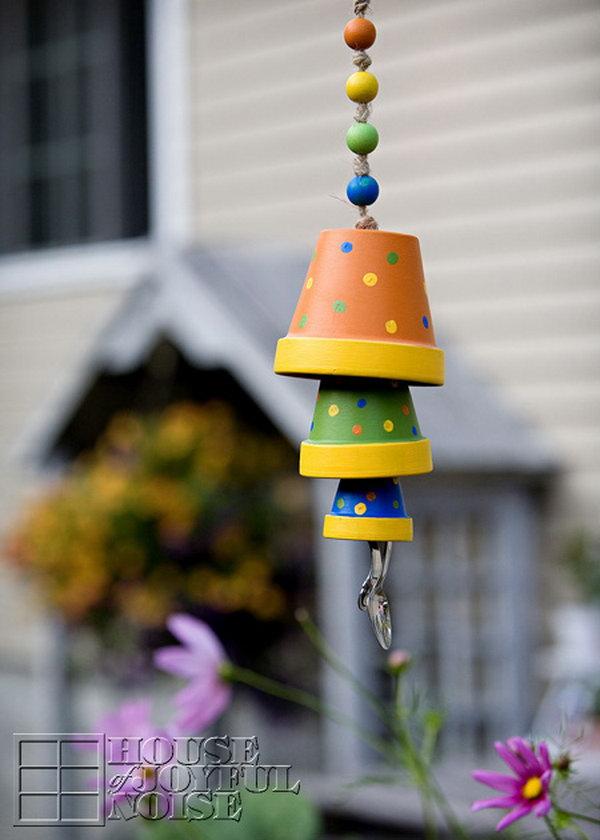 Terracotta Flower Pot Wind Chime. Get the full tutorial