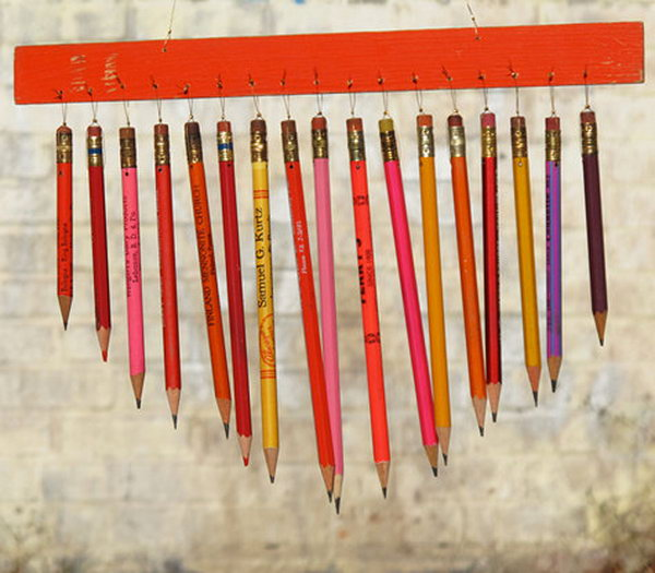 Colorful Fun Pencil Wind Chime. See the steps