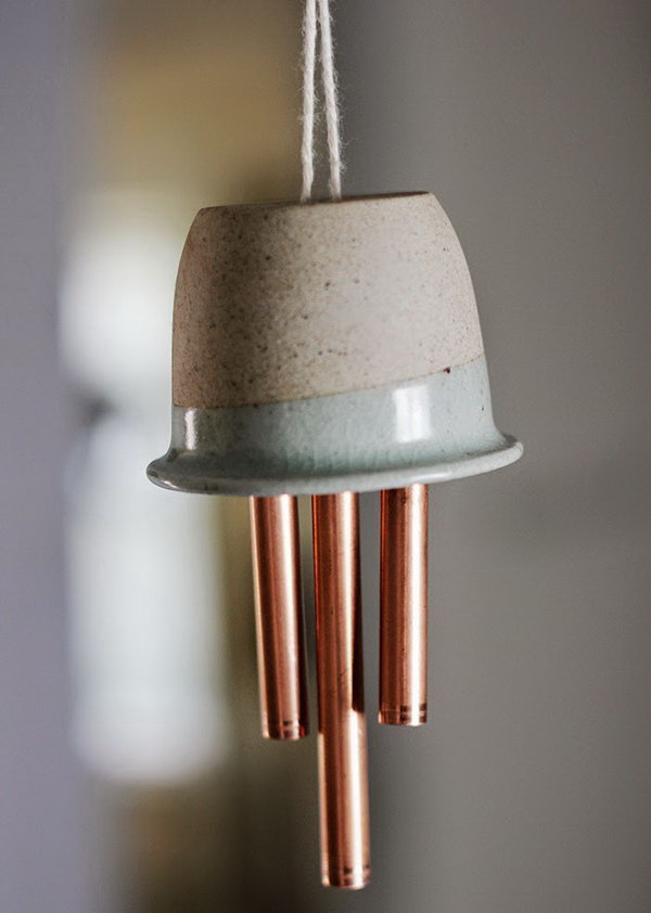 Ceramic and Copper Wind Chime. See the tutorial