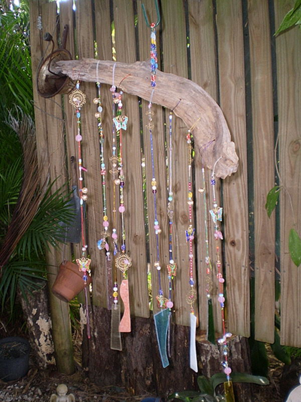 Wind Chime with Old Beads and Jewelry. See how