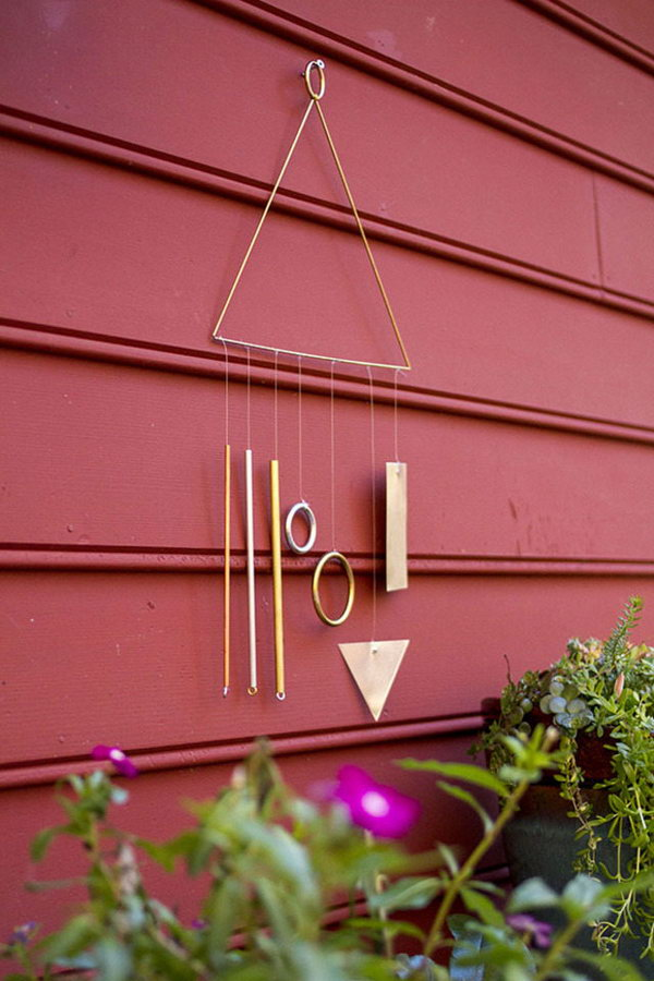 DIY Modern Wind Chime. Get the tuttorial