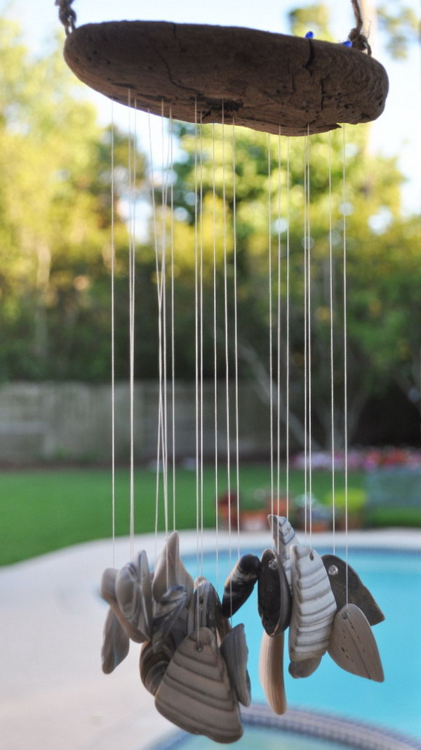 Sea Shells Wind Chime. Get the tutorial