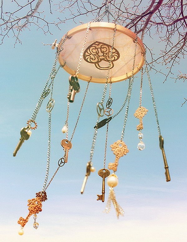 Steampunk Wind Chime. See the tutorial