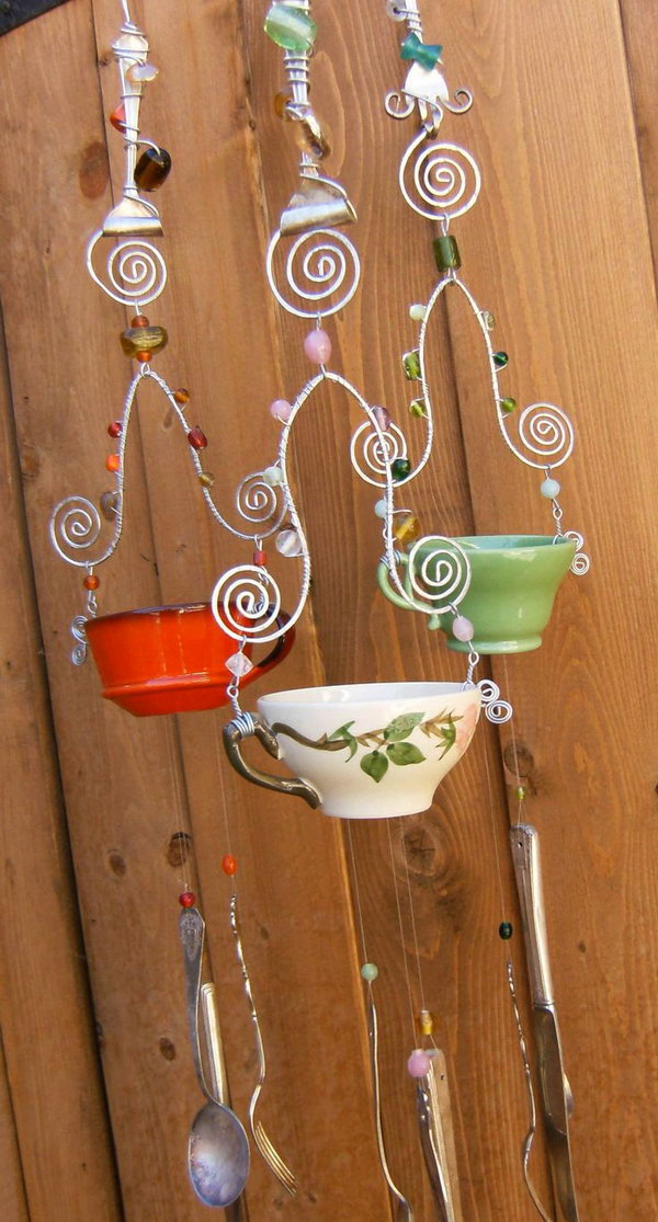 DIY Tea Cup Wind Chime.