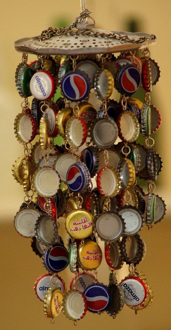 Cool Bottlecap Windchime.