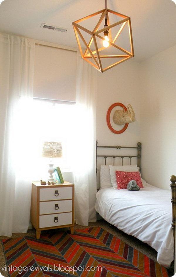 DIY Openwork Cube Pendant Light  11 diy chandelier ideas tutorials. 25  Fantastic DIY Chandelier Ideas and Tutorials   Hative