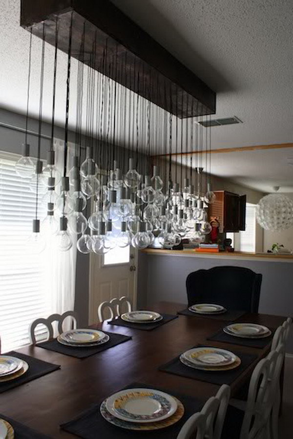 DIY Dining Room Bulbs Pendant Lights