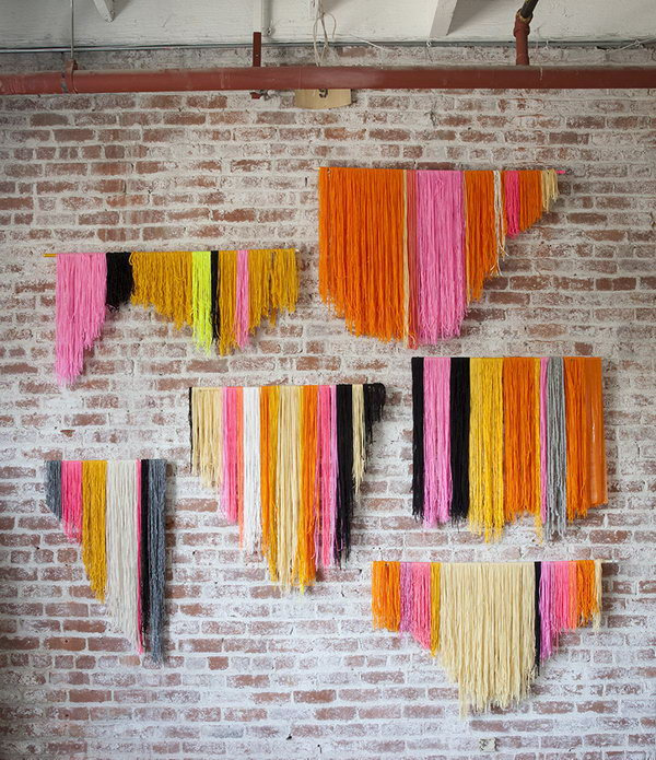 Yarn Banner Wall Decor Idea. See how