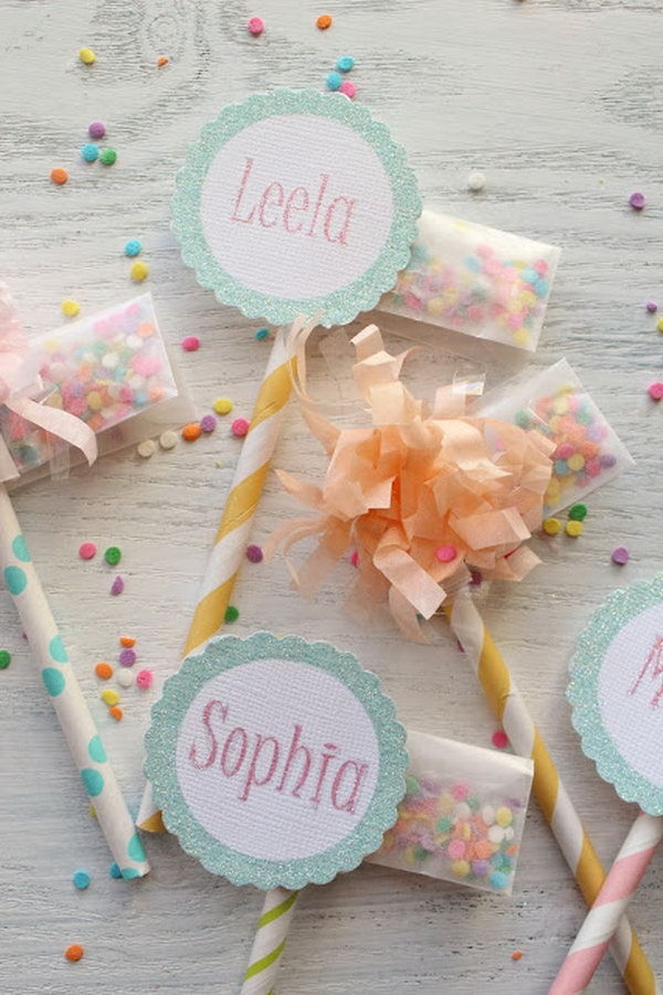 Sprinkle Packet Cupcake Toppers. See how to make it