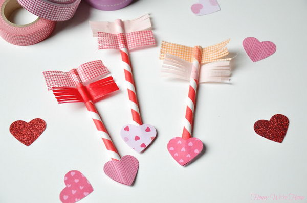 Paper Straw and Washi Tape Arrows. See the tutorial