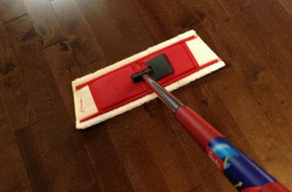 DIY Hardwood Floor Cleaner with Water, Vinegar and Essential Oil. Learn how to make it