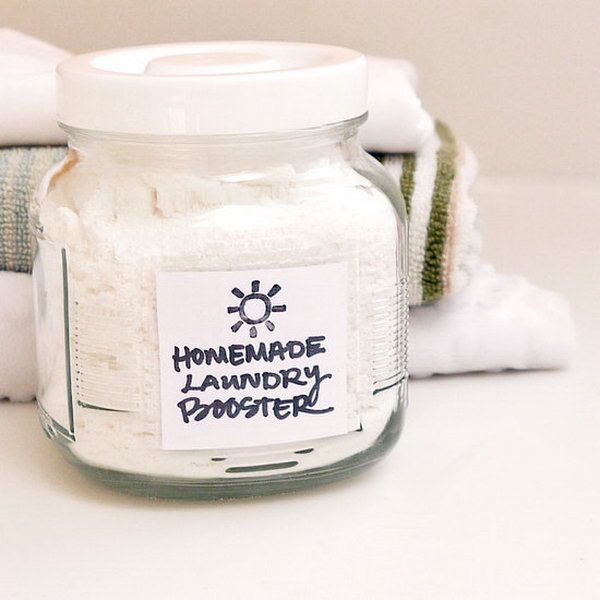Homemade Dry Laundry Booster. Get the recipe