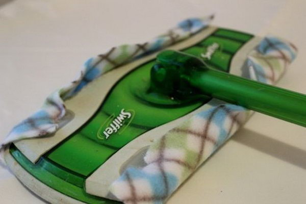 Reusable Swiffer Cloths. See the tutorial