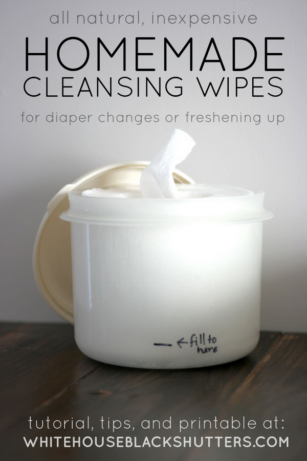 Homemade Organic Baby Cleansing Wipes. Get the tutorial