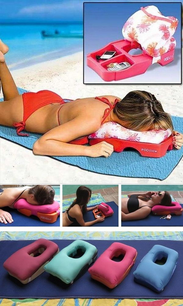 Ideal Two in One Massage and Tanning Pillow.