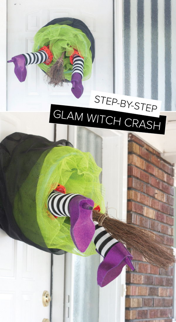 DIY Witch Crash Wreath.