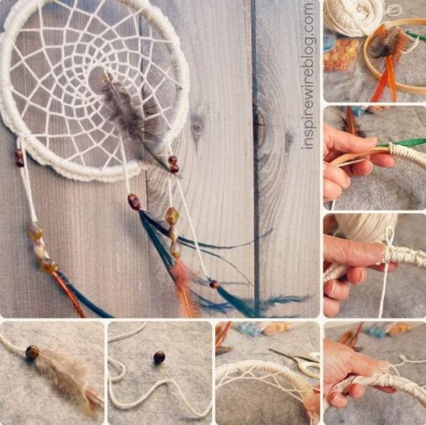 DIY Authentic Native Dream Catcher .