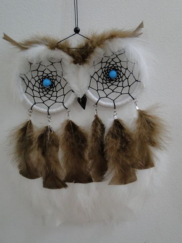 DIY Cute Owl Dream Catcher .