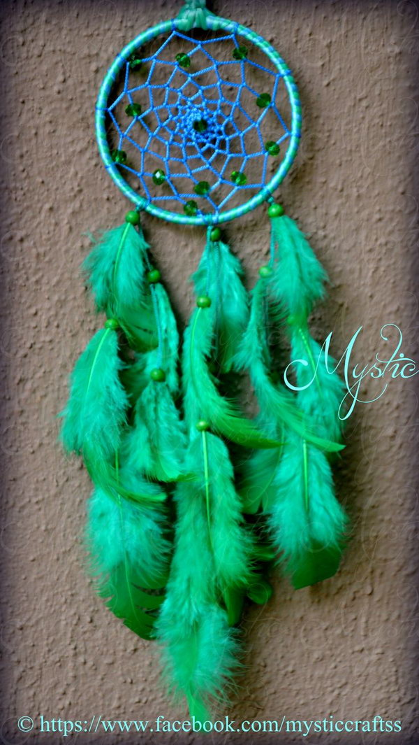 Awesome Turquoise Dream Catcher .