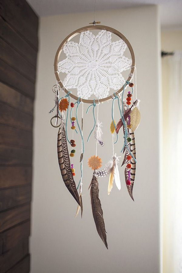DIY Boho Dream Catcher for Baby Nursery.