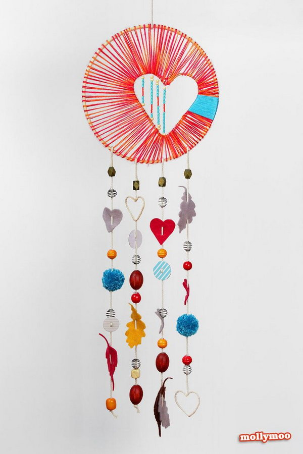 DIY Heart of Hope Dream Catcher.