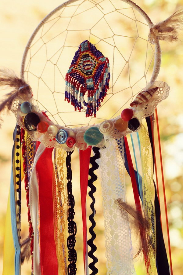 Perfectly Color Coordinated Dream Catcher .