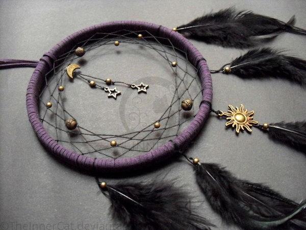 Diy project ideas tutorials how to make a dream catcher for Dreamcatcher weave patterns