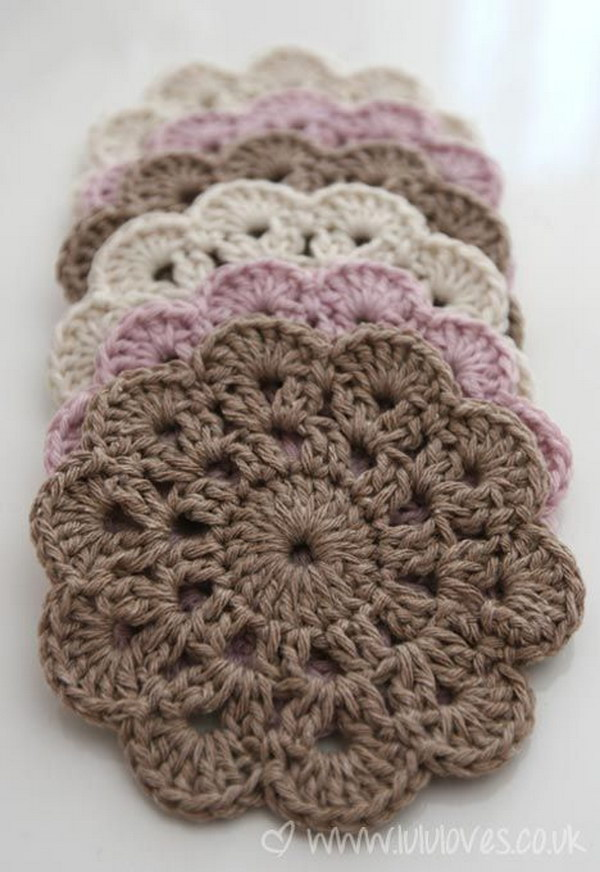 Crochet Patterns Coasters : Free Easy Crochet Patterns For Beginners - Hative