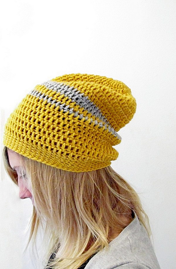 Simple Crochet Pattern For A Beanie : Free Easy Crochet Patterns For Beginners - Hative