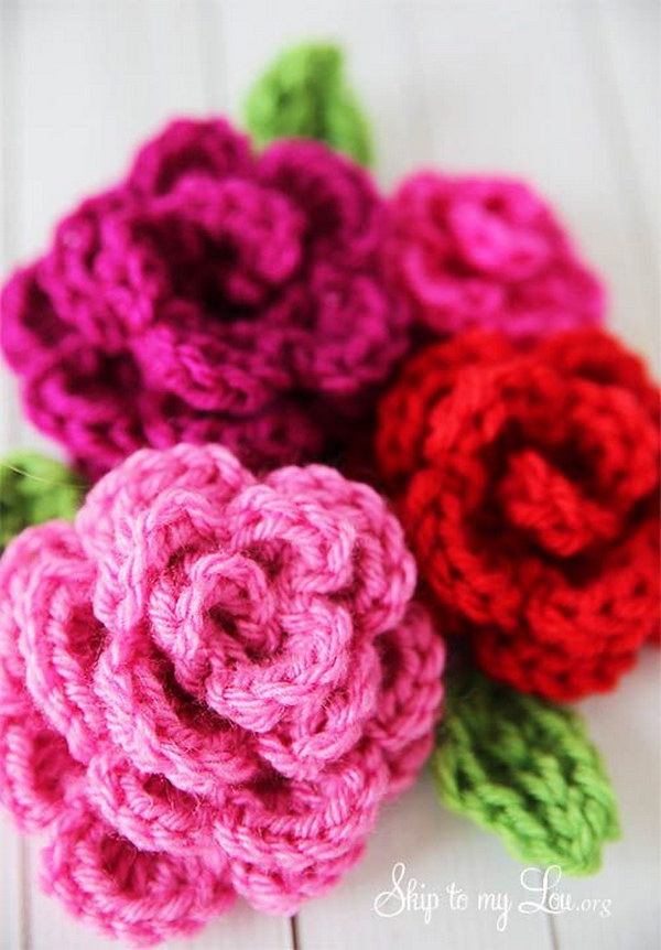 Crochet Rose Pattern : Free Easy Crochet Patterns For Beginners - Hative