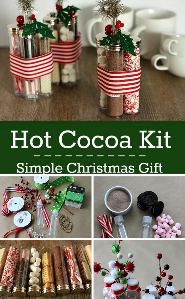Hot Cocoa Kit Simple Christmas Gift. - DIY Personalized Gifts For Your Loved Ones - Hative