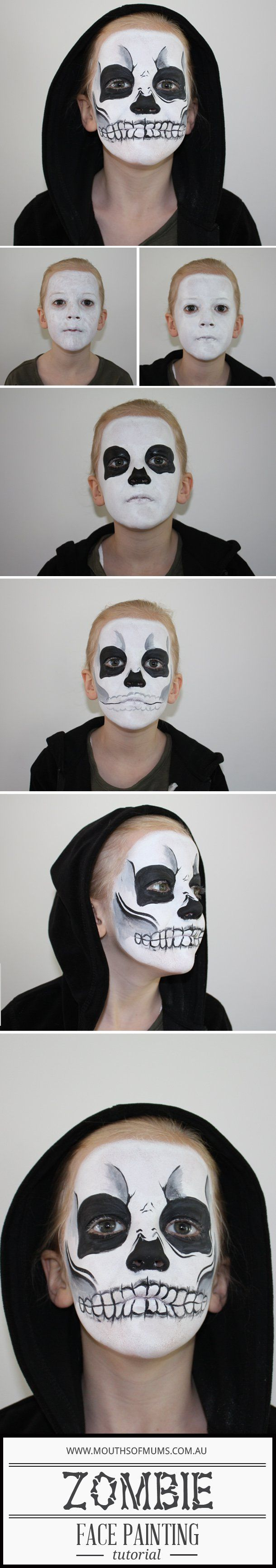 25 super cool step by step makeup tutorials for halloween hative kids zombie face painting tutorial baditri Images