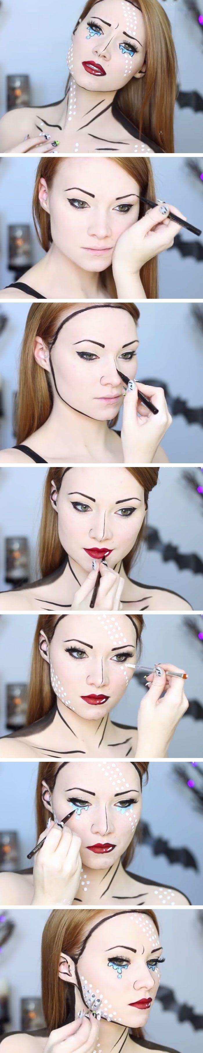 Easy Comic Book Makeup Tutorial