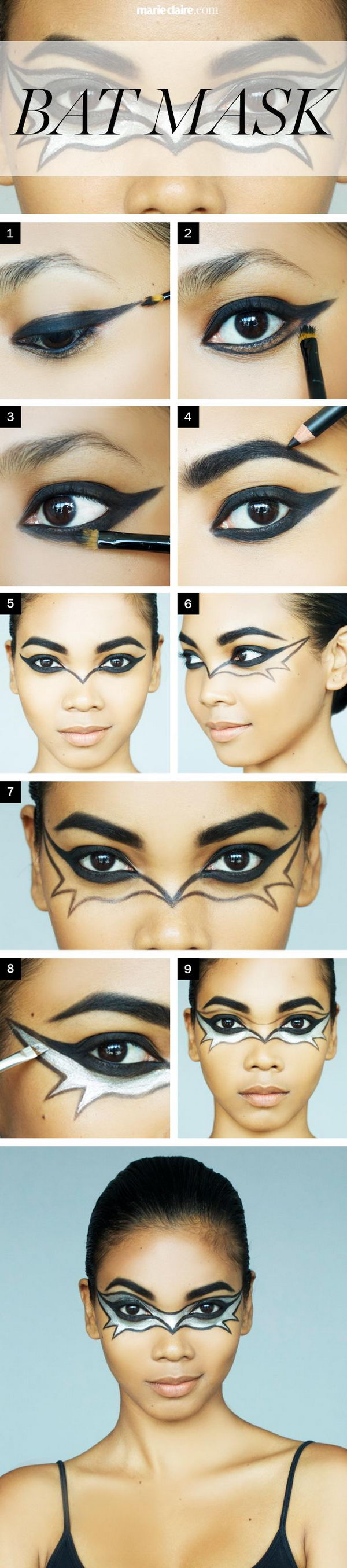 Bat Mask Makeup Tutorial