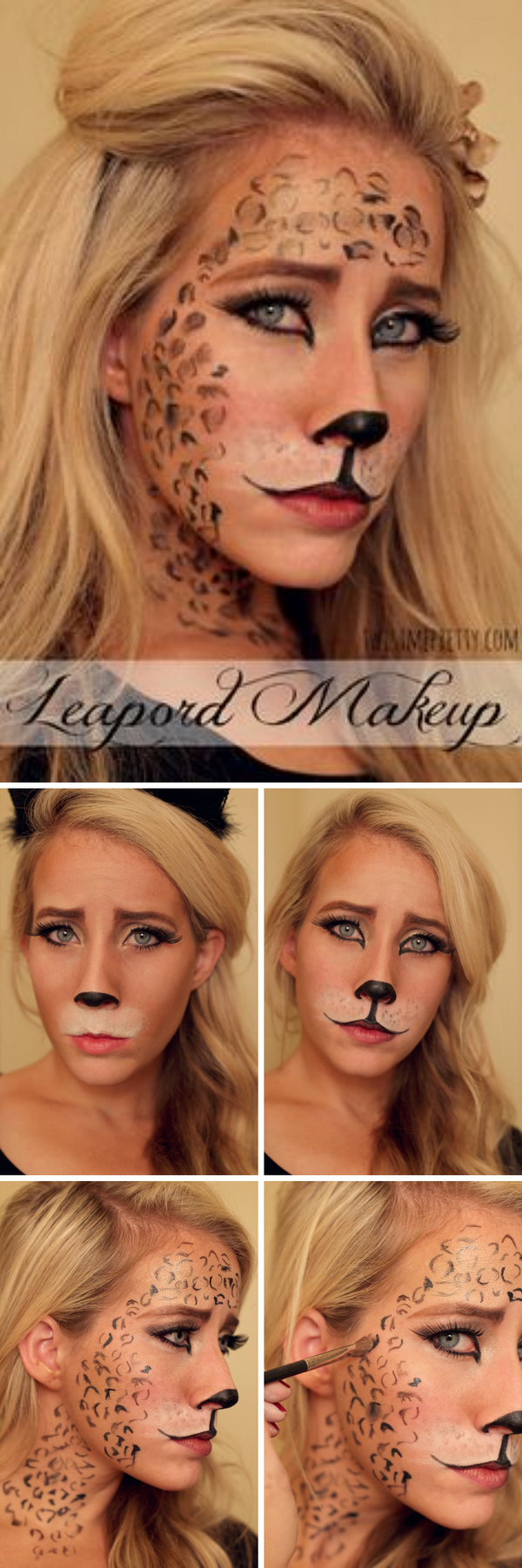 25 super cool step by step makeup tutorials for halloween hative leopard makeup tutorial baditri Image collections