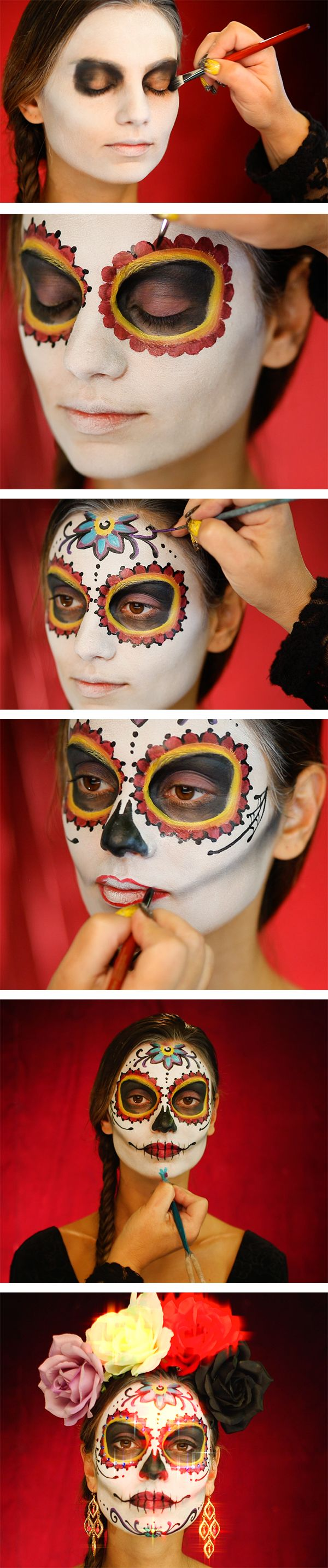 25 super cool step by step makeup tutorials for halloween hative sugar skull makeup tutorial baditri Images