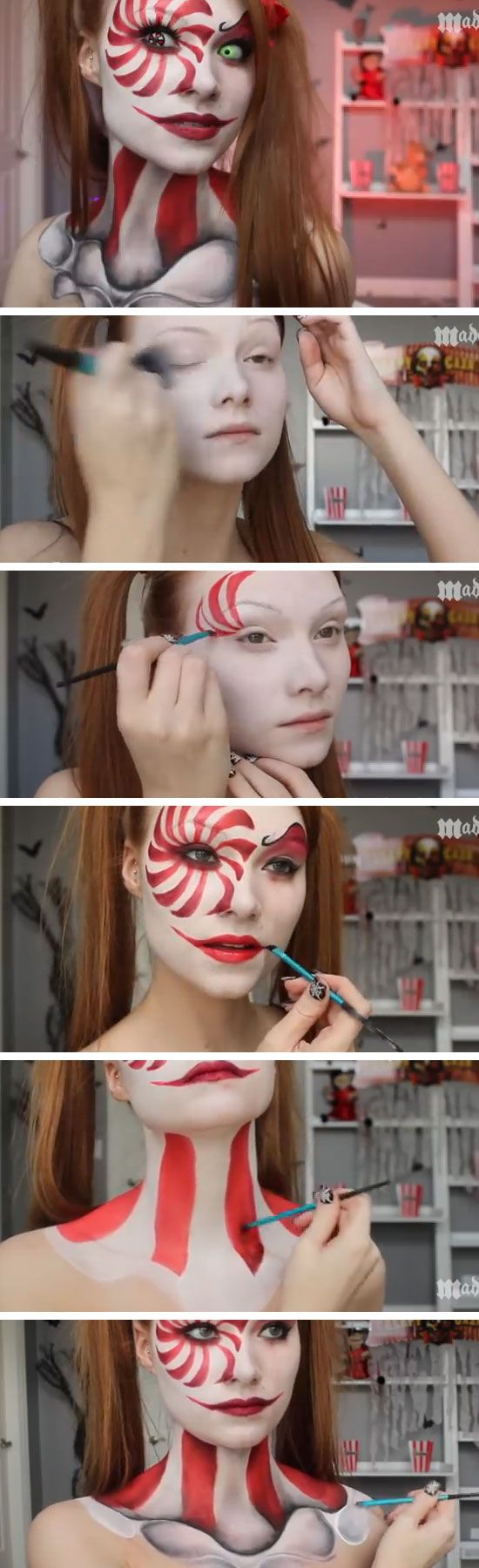 Clown Makeup Tutorial  sc 1 st  Hative & 25+ Super Cool Step by Step Makeup Tutorials for Halloween - Hative