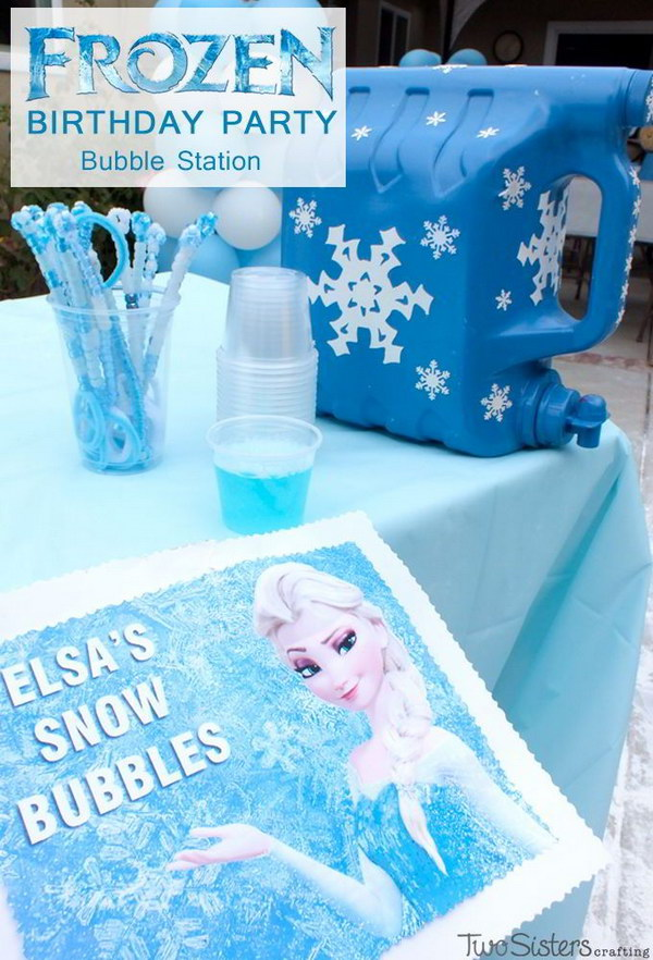 DIY Frozen Bubble Station.