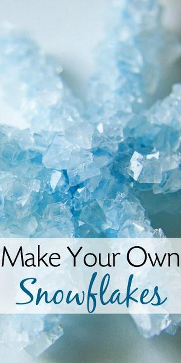 DIY Crystal Snowflake.
